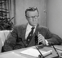 Howard Culver as handwriting expert Rufus Bolding in Perry Mason (1958)
