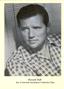 Early Howard Duff fan card, ca. 1946