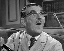 Howard McNear as Floyd the Barber in The Andy Griffith Show