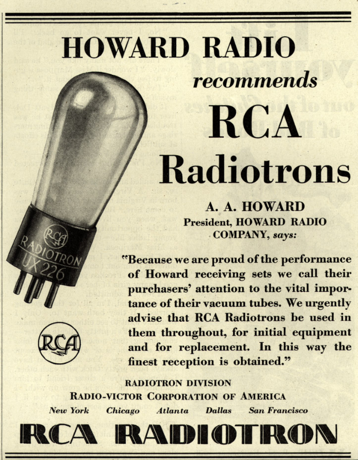 Howard_Radio_recommends_RCA_Radiotron