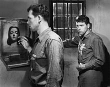 Howard Duff and Burt Lancaster in Brute Force (1947)