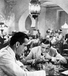 One of several chess scenes from Casablanca (1942)