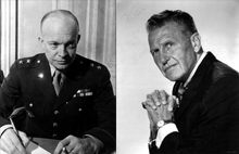 Eisenhower with Guest Ralph Bellamy