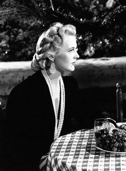 Lovely Ilona Massey (1943) as one might have envisioned her during an episode of Top Secret. In reality, Ms. Massey had aged rather uncharitably during the ensuing eight years.