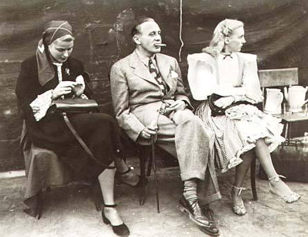 Ingrid Bergman, Jack Benny, and singer Martha Tilton