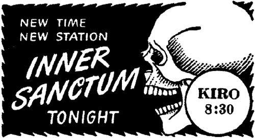 Inner Sanctum Mystery, also known as Inner Sanctum, a popular old-time radio program that aired from January 7, 1941 to October 5, 1952, was created by producer Himan Brown and was based on the generic title given to the mystery novels of Simon and Schuster. In all, 526 episodes were broadcast.