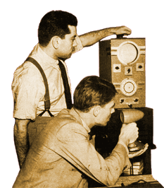 CBS Engineer and Director Irving Reis (L.)