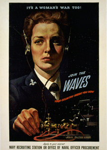 The OWI's famous It's A Woman's War Too! poster