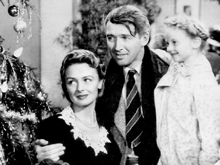 James Stewart, Donna Reed and Karolyn Grimes in Its A Wonderful Life (1946)