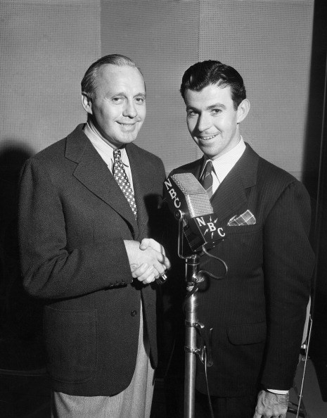 Jack Benny, actor Dennis Day in 1939