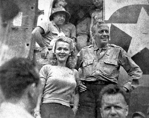 Jack Benny and Carole Landis