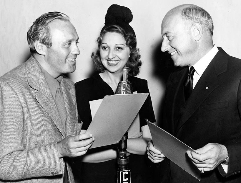 Jack Benny, Mary Livingstone and Cecil B. DeMille