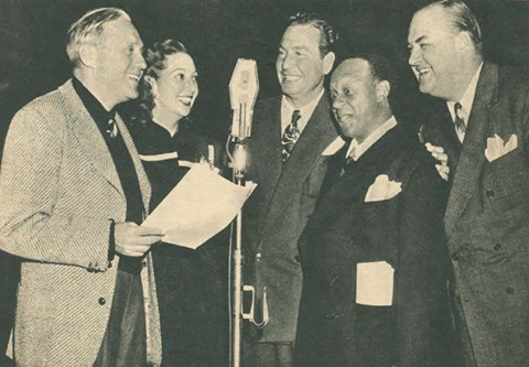 Jack Benny, Mary Livingstone, Phil Harris, Eddie Anderson and Don Wilson