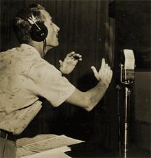 Jack Johnstone at mike