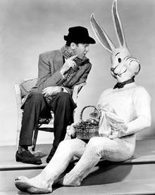 James Stewart as Elwood P. Dowd in Harvey (1950)