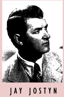 Jay Jostyn talent card circa 1948
