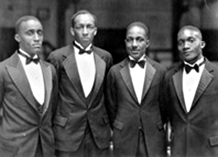 Jester Hairston (far right) at Tufts, ca. 1929