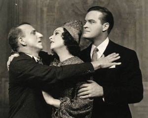 Jimmy Durante, Ethel Merman, and Bob Hope in Red, Hot and Blue. 1936