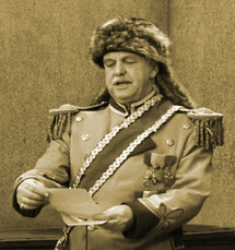 Sherman 'Jock' MacGregor as Morris Fink, Grand High Exalted Mystic Ruler from The Honeymooners, ca 1956