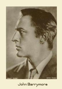 United Artists John Barrymore fan card circa 1927