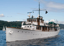Barrymore loved spending time on his yacht The Mariner