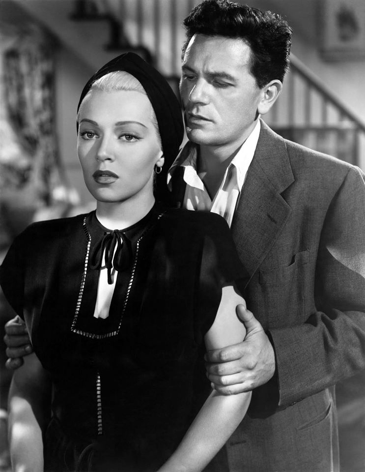 John Garfield and Lana Turner in