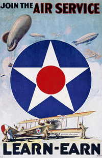 Early Army Air Service recruitment poster