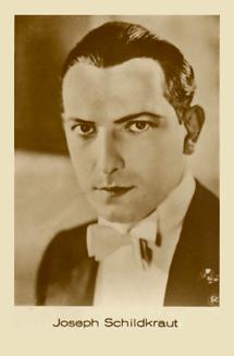 Matinee idol Joseph Schildkraut fan card circa 1927