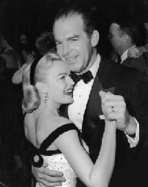 Fred MacMurray dances with wife June Haver circa 1972