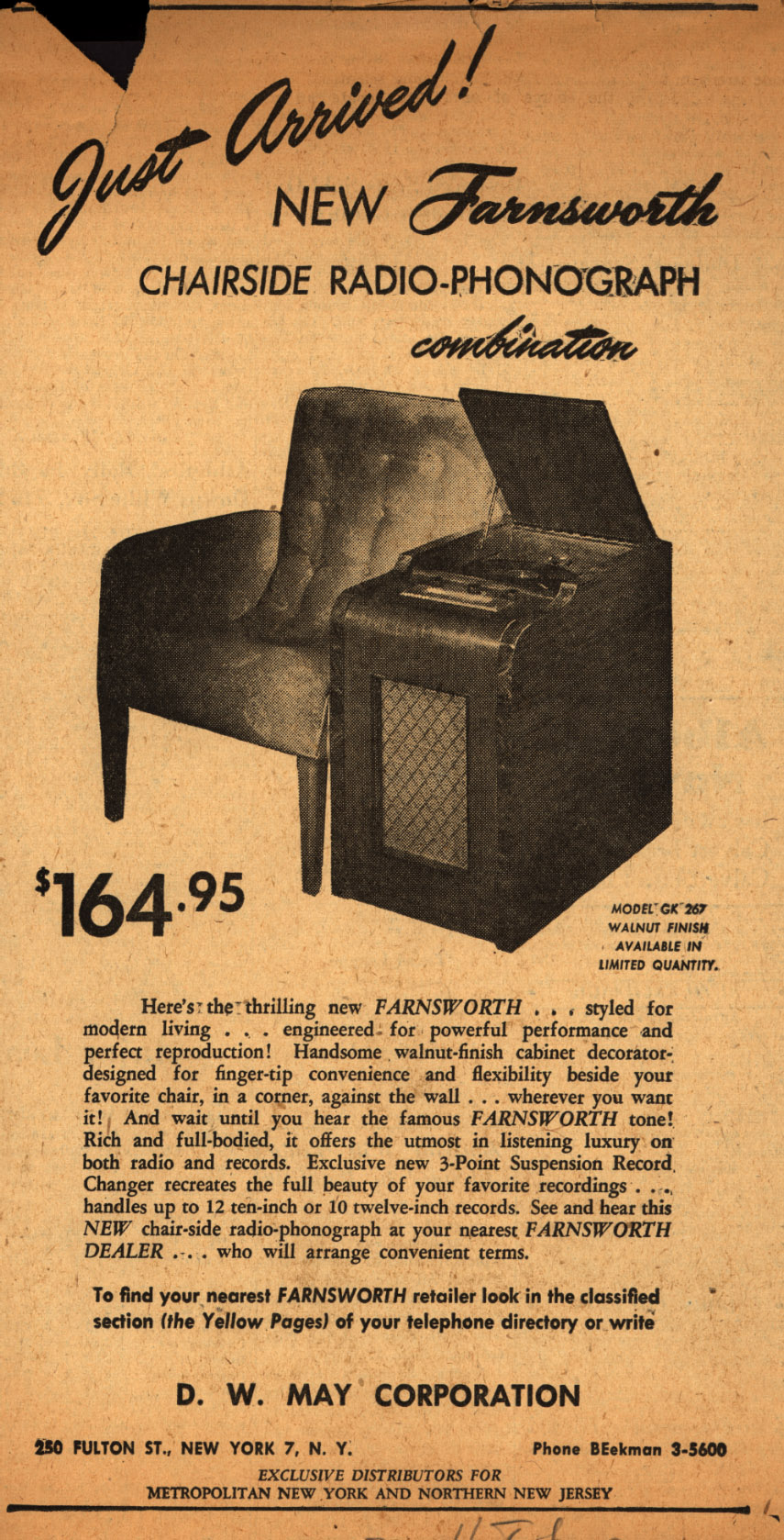 Just_Arrived_New_Farnsworth_Chairside_Radio-Phonograph_combination