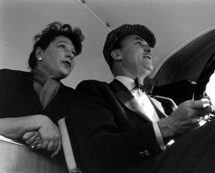 Katherine Cornell is backseat driver to Brian Aherne during their 18,000 mile tour of Dear Liar (1959)