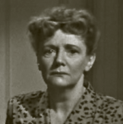 Kathleen Lockhart. The dour expression isn't sea-sickness. She's seen here as Mrs. Grayson the distraught mother in Lady In the Lake (1947)