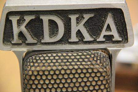 A radio microphone. KDKA radio in Pittsburgh airs the first sporting event on commercial radio, today in 1920.