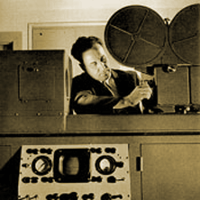 The kinescope process involved filming a television pgogram directly from the cathode ray tube (kinescope) over which it was being captured during a live performance