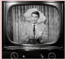 Peter Leeds on TV, in TV, on TV in My Little Margie, ca 1954 .