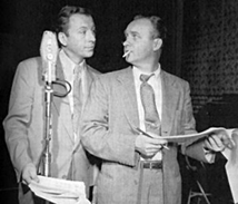 Les Damon with character actor Ken Lynch from The Adventures of The Falcon, ca. 1950