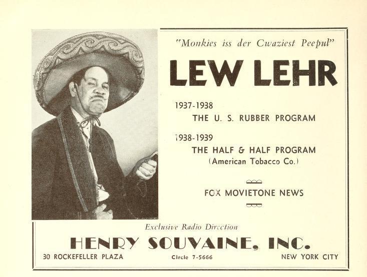 Actor Lew Lehr
