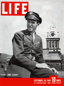 Colonel James Stewart on LIFE Magazine cover September 24 1945
