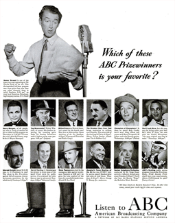 By 1948 ABC was fully underway and having established its own respectable track record promoted its 'prizewinners' in this full-page Life spread from April 26 1948