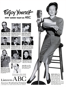 Full page Life ad promoting Counterspy and other ABC programs from Nov 11 1948