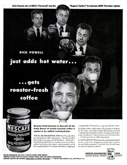LIFE Magazine Nescafe ad promoting Rogue's Gallery over MBS from May 13 1946