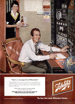 'Here's a message from Milwaukee' LIFE Magazine Schlitz ad promoting The Halls of Ivy from January 7 1952