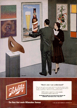 'Here's one I can understand!' LIFE Magazine Schlitz ad promoting The Halls of Ivy from January 21 1952