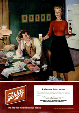 'A Pleasant Interruption' LIFE Magazine Schlitz ad promoting The Halls of Ivy from March 3 1952