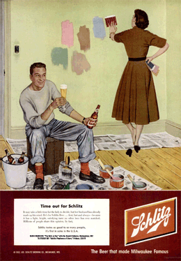 'Time Out for Schlitz' LIFE Magazine Schlitz ad promoting The Halls of Ivy from March 17 1952