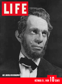 Raymond Massey takes Abraham Lincoln to Broadway from Life Magazine October 31, 1938