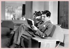 Lionel Stander, reading, ca. 1935
