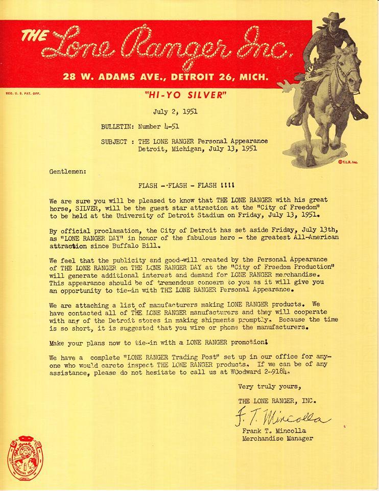 Lone Ranger Day, 1951