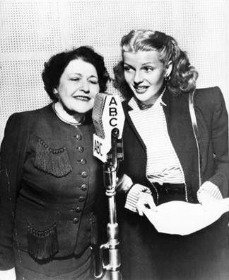ABC RADIO - Hollywood gossip columnist Louella Parsons with Rita Hayworth