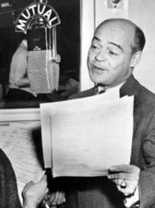 Luis van Rooten at The Mutual Broadcasting System circa 1952